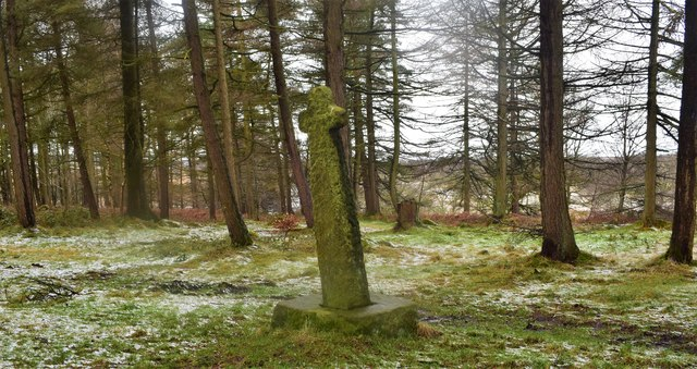 Old cross in Shillito wood.