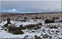 SK2775 : Stone circle on Big Moor. by steven ruffles