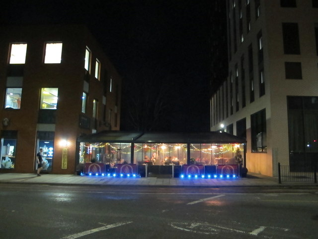 Shisha Lounge of Acton Damascino, night view