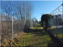 NS4074 : Path to Dumbarton Foreshore by Lairich Rig