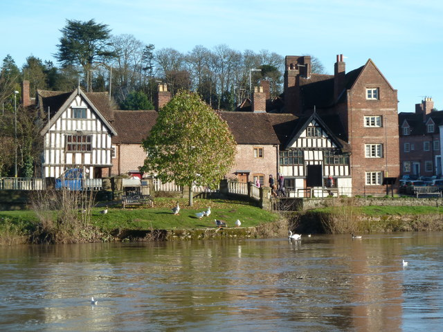Half-timbered houses, Bewdley
