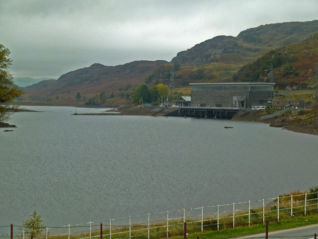 Tanygrisiau Reservoir and pumped storage power station