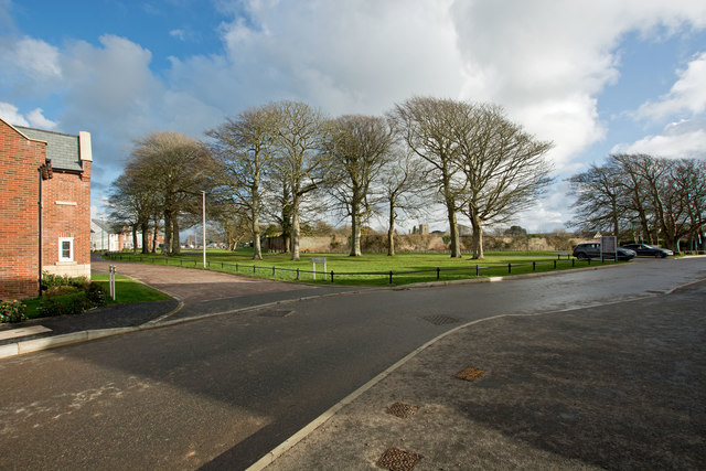One end of Company Road on Fremington Camp