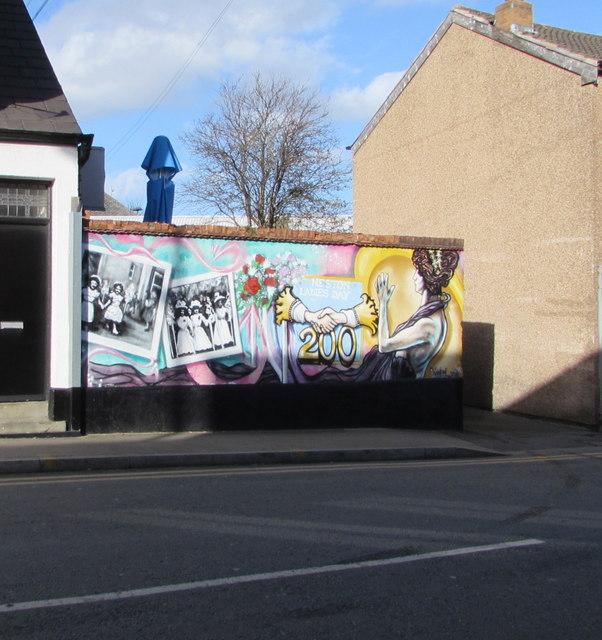 Bicentenary mural, Brook Street, Neston