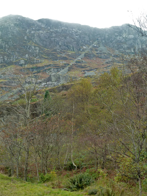 Disused incline at Tanygrisiau