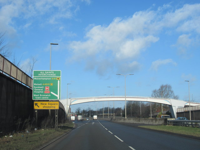 West Bromwich A41 Expressway Junction For A4031 All Saints Way