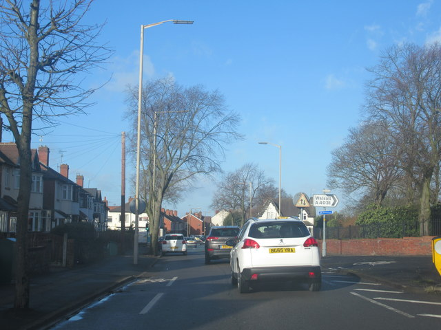 West Bromwich Heath Lane and Walsall Road Junction
