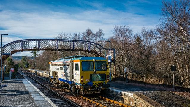 Rail Tamper at Lairg bound for Forsinard