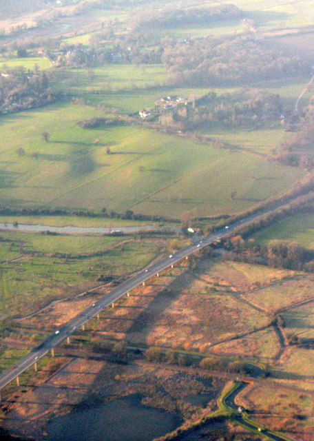The A10 crosses King's Mead