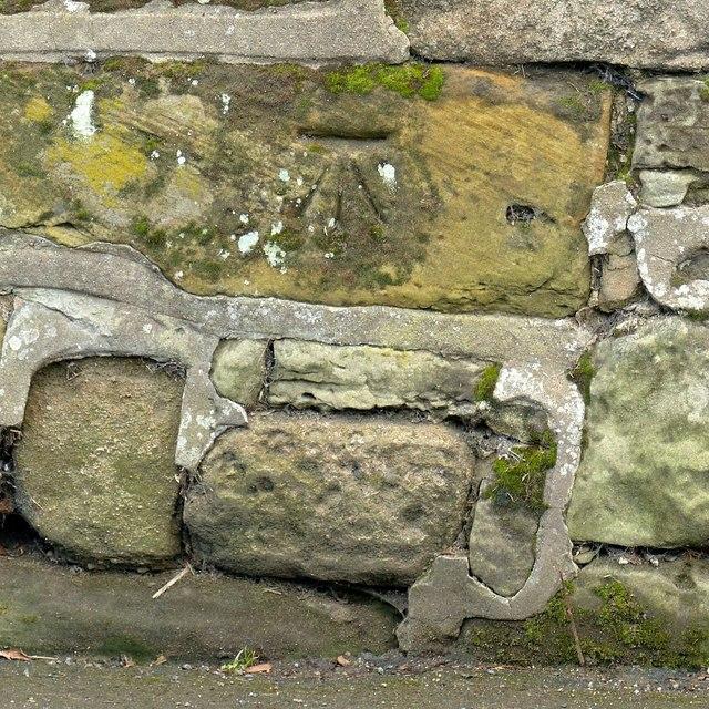 Bench mark, 49 Weston Road, Aston-on-Trent