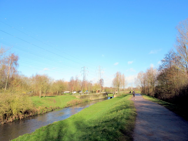 River Tame Passing Through Sandwell Valley Country Park