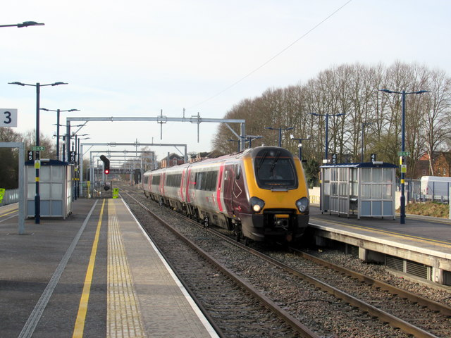 Inter-City Express Passing Bromsgrove Station Platform 2