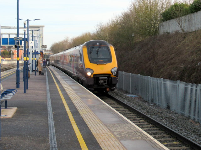 Southbound Inter-City Express Passing Bromsgrove Station Platform 4