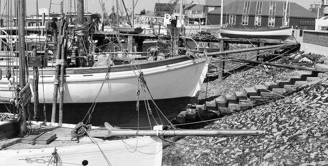 R.J.Prior & sons boatyard some time in the late 60s or early 70s