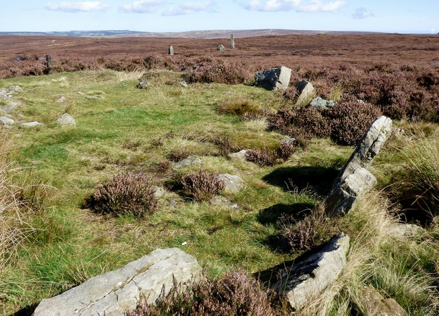 Simon Howe kerbed cairn and stone