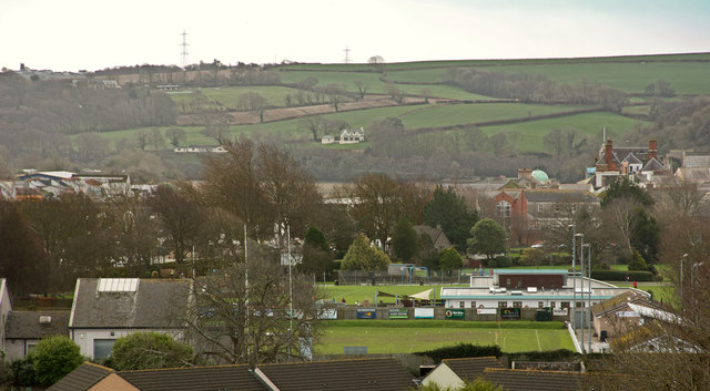 Bideford RFC and part of Victoria Park