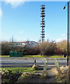 NZ3652 : Telecoms mast in Doxford International Business Park by Trevor Littlewood