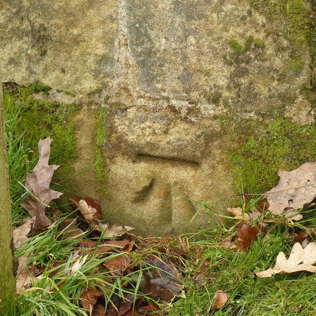 Bench mark, Golden Gates, Elvaston Castle