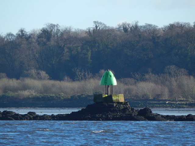 New green beacon on the Lang Dyke