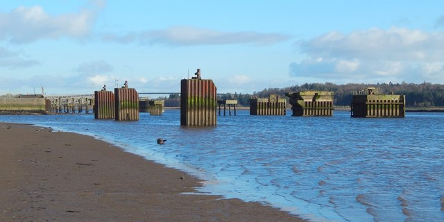 Bollards on the River Clyde