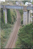 SX4358 : Cornish Main Line crosses the Tamar Valley Line by N Chadwick