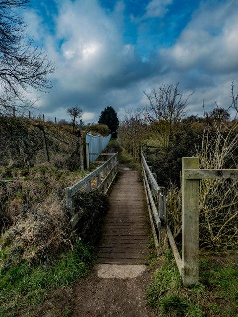 Footbridge crossing Pix Brook