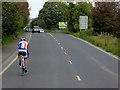 C4120 : Cyclist on Buncrana Road by David Dixon