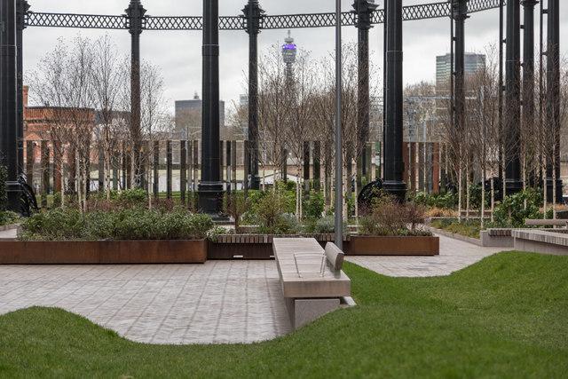 Gasholder Park, King's Cross, London