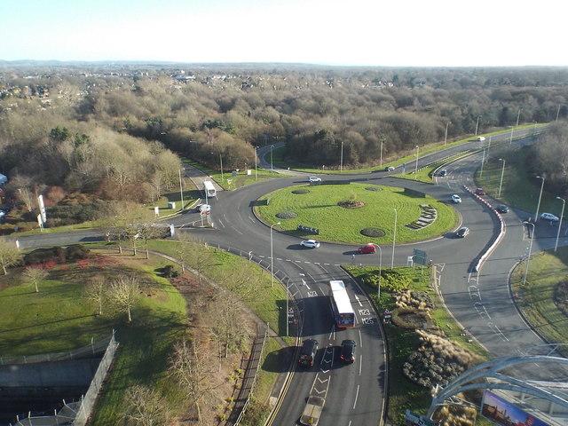 Roundabout at Gatwick Airport
