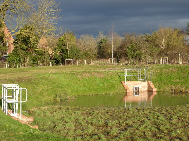 Sustainable Urban Drainage System, new estate, Worcester