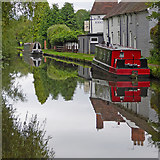 SO8171 : Canal near Stourport n Worcestershire by Roger  Kidd