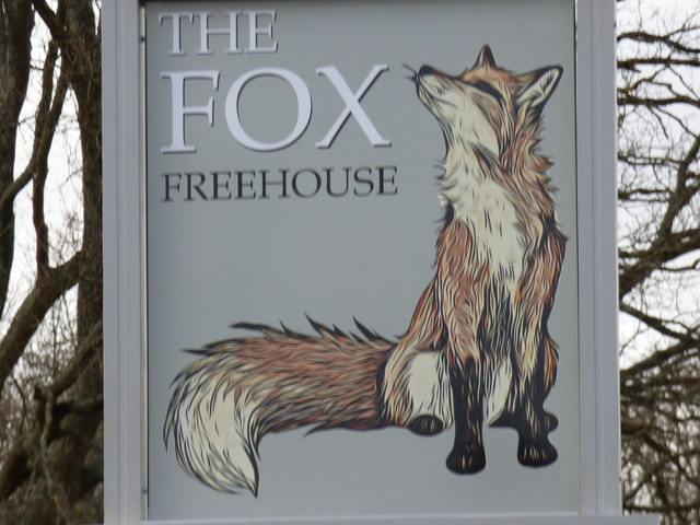 New sign for the Fox on Coulsdon Common