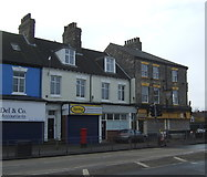 TA0828 : Shops and Eagle public house on Anlaby Road, Hull by JThomas