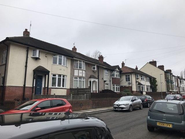 Houses on Sackville Street, Basford