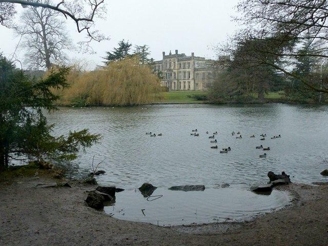 Elvaston Castle, the lake