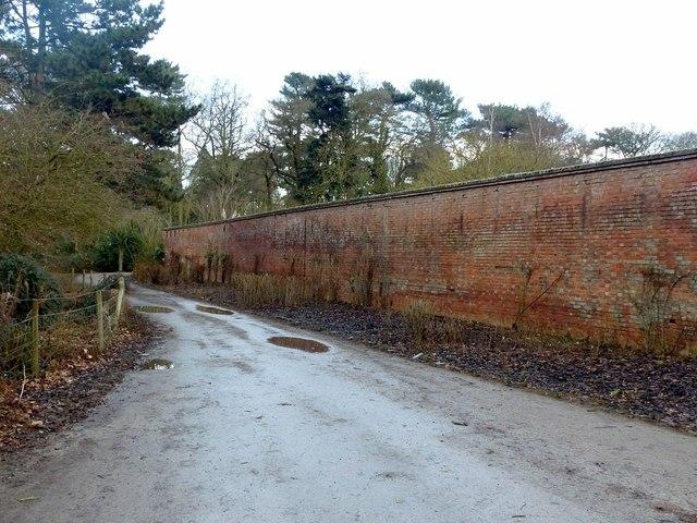 Walled gardens exterior, Elvaston Castle