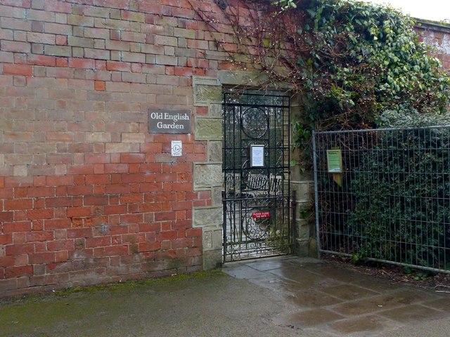 Old English Garden entrance, Elvaston Castle