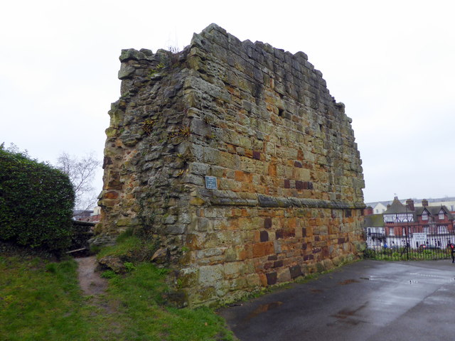 Remains of wall at Tonbridge Castle