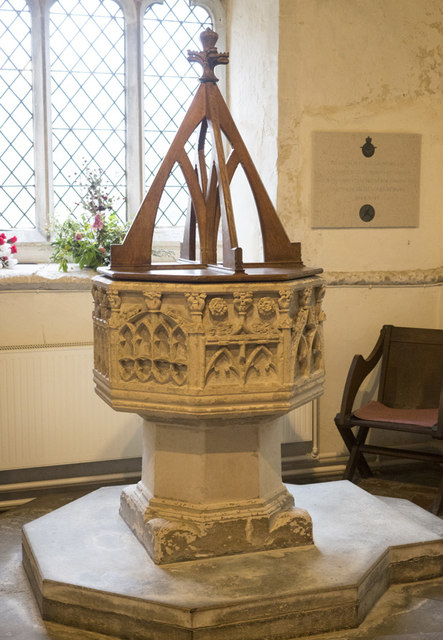 All Saints, Longstanton - Font