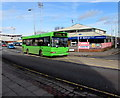 SJ3250 : Green bus, Regent Street, Wrexham by Jaggery