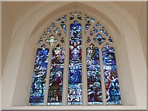 TQ2160 : St Martin of Tours Epsom: stained glass window (b) by Basher Eyre
