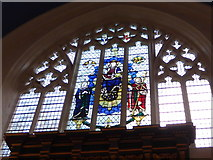 TQ2160 : St Martin of Tours Epsom: stained glass window (e) by Basher Eyre