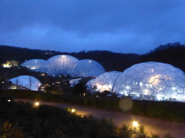 The Eden Project Biomes At Night