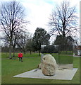 TQ2679 : Sculpture: Relatum - Stage by Lee Ufan, Kensington Gardens by PAUL FARMER