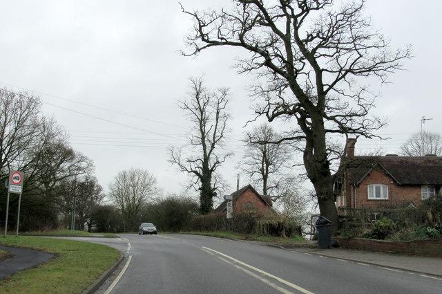 Old School Lane Junction With A4189 Near Warwick