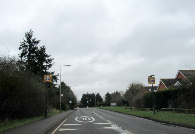 A4189 Hampton Road Warwick Near Town Sign