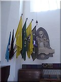 TQ2160 : St Martin of Tours, Epsom: flags and banners (B) by Basher Eyre