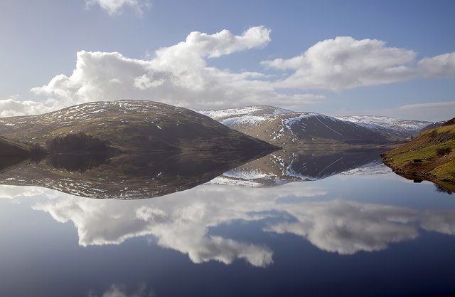Megget Reservoir reflections