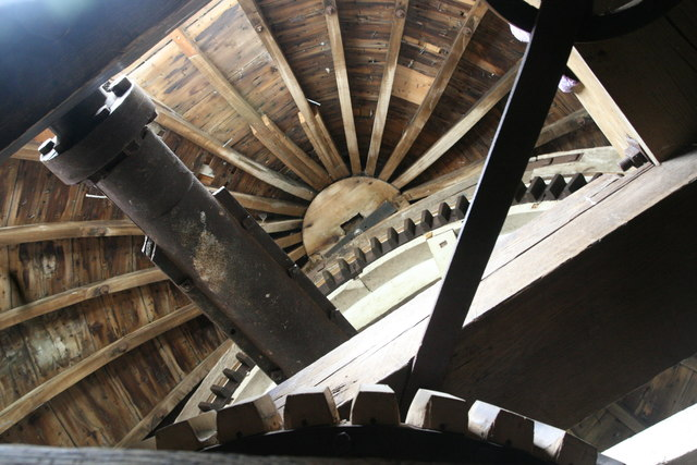 Impington Windmill - looking up into the cap