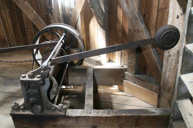Impington Mill - sack hoist